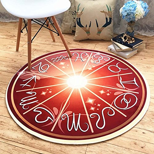 HOMEE European - style living room children 's room bedside chlorophytum computer chairs cartoon constellation round carpet,Diameter 140 Cm,C by HOMEE