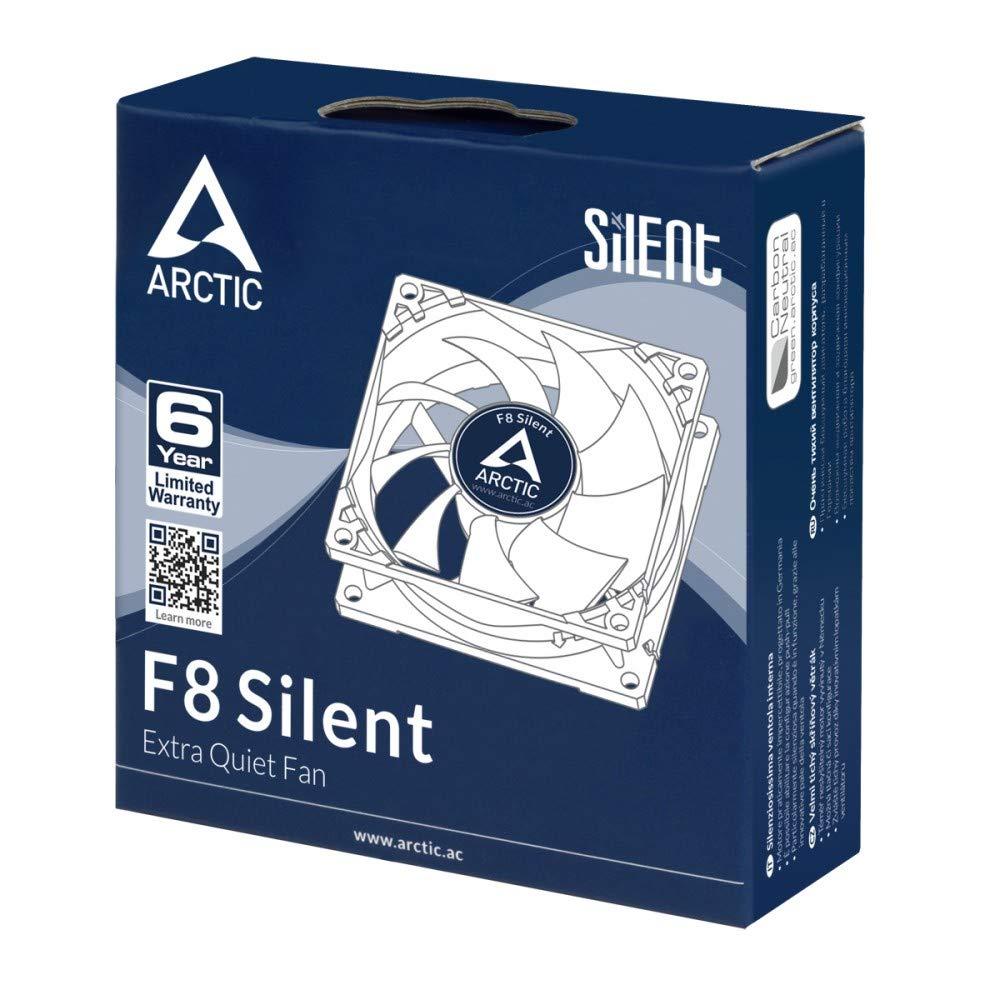 ARCTIC F8 a molteplice utilizzo estremamente silenzioso ed efficiente Ventola da 80mm ad alta potenza con case standard