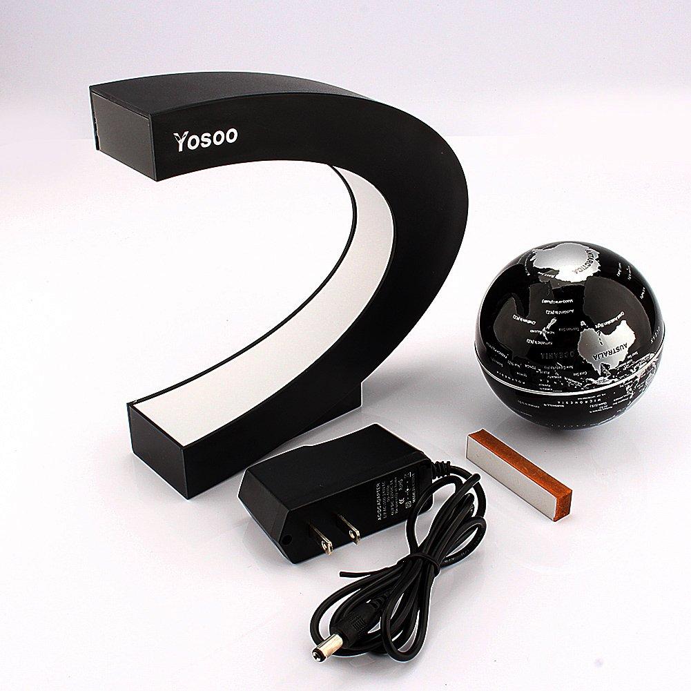 Amazon Com Yosoo C Shape Decoration Magnetic Levitation Floating Globe World Map Toys Games