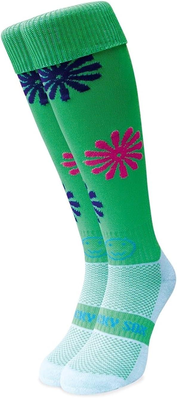 Black with Orange Detail WackySox Ankle Running Socks