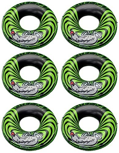 Intex 6-Pack River Rat 48-Inch Inflatable Tubes for Lake/Pool/River | 6 x 68209E