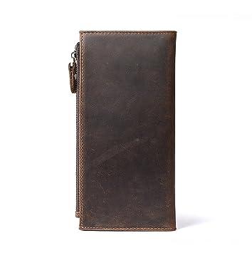b7dfaf9b1de23 Sucastle Herren Leder Geldbörsen Portemonnaie Brieftasche RFID Schutz Große  Kapazität Vintage Design
