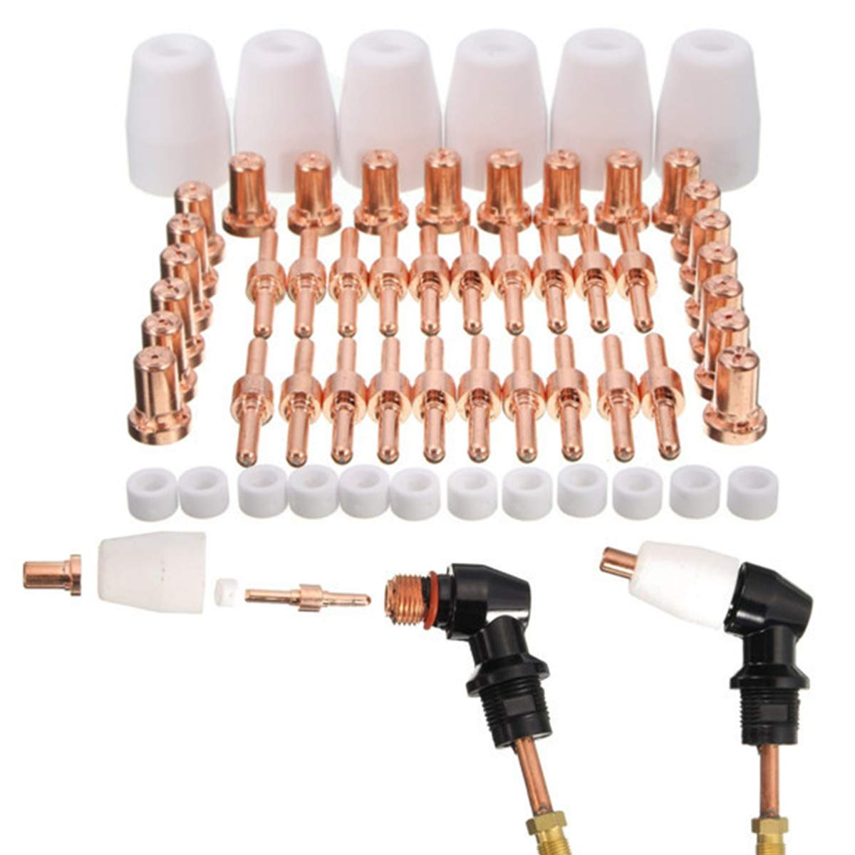 58pcs Long Tip Electrode Tip for CT520D LT5000D 50R 40R 5000D 5200DX 520D klutch plasma primeweld razorweld hypotherm hobart 27i hyl cut50c