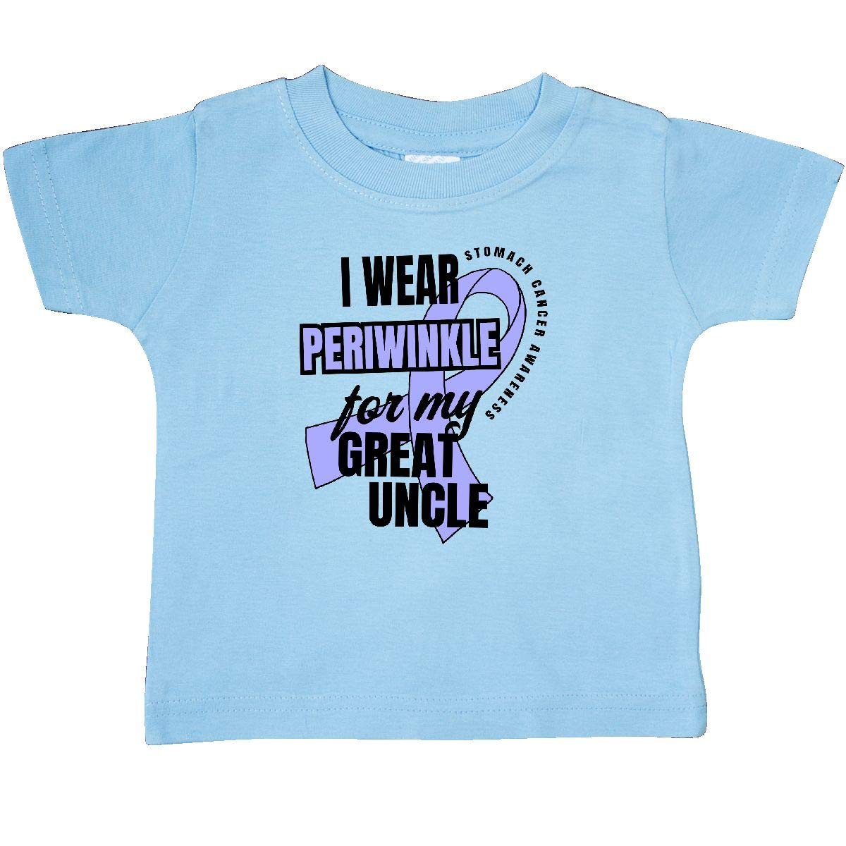 inktastic I Wear Periwinkle for My Great Uncle Stomach Cancer Baby T-Shirt