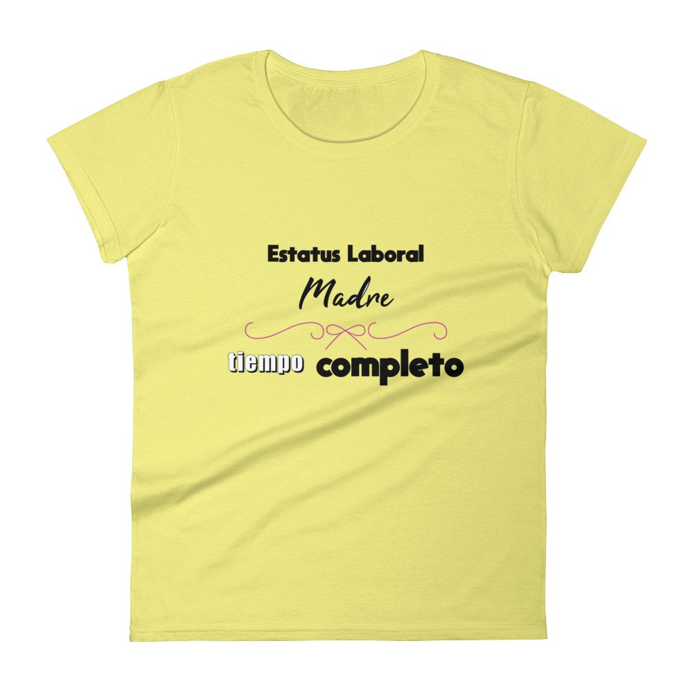 Maternidad Sin Filtro Madre Tiempo Completo Camiseta/FTMothers Short Sleeve t-Shirt at Amazon Womens Clothing store: