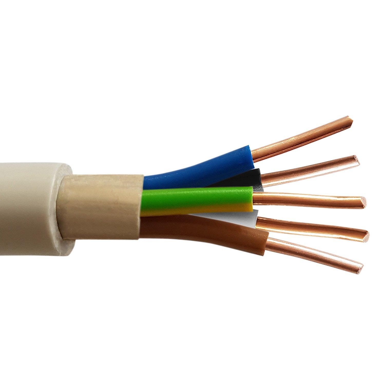 100 M de NYM-J 5 x 1,5 mm² abrigo Cable eléctrico corriente Cable ...