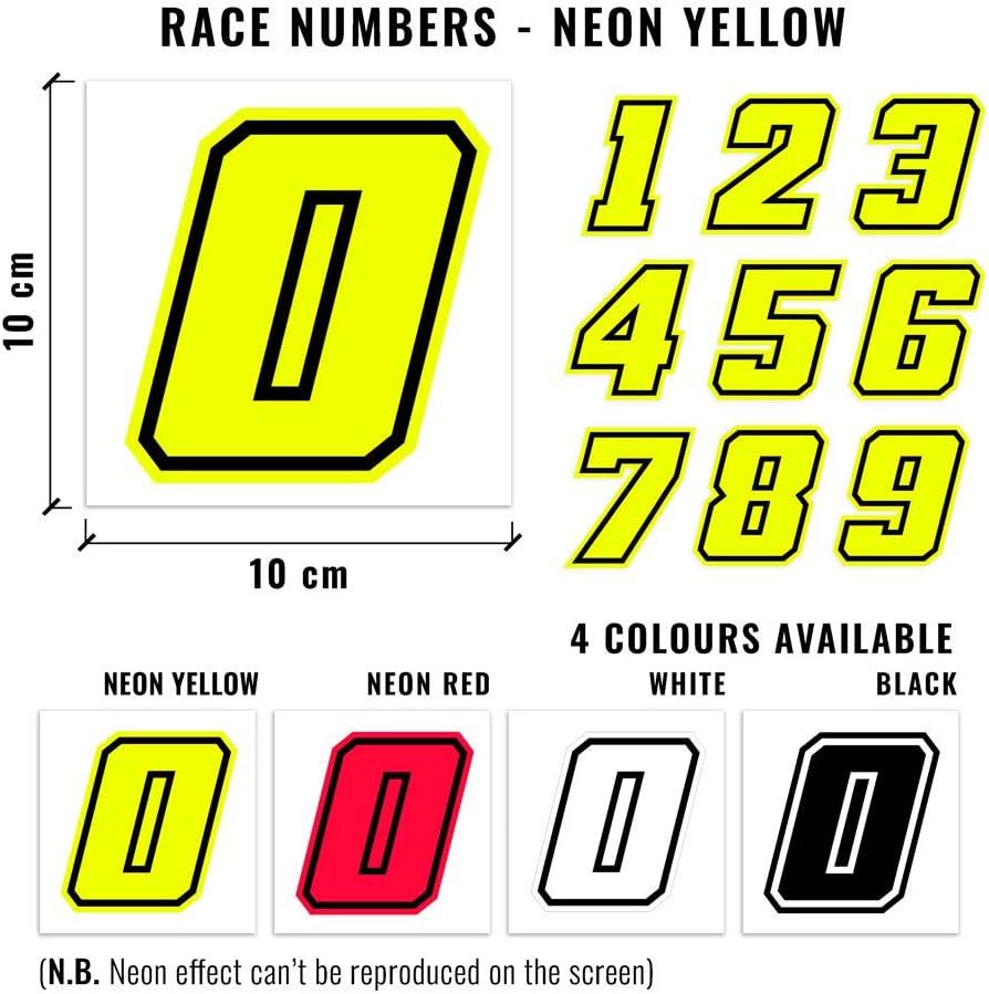 10 x 7 cm Bianco 4R Quattroerre.it 13361 Numero Racing 1 Moto GP
