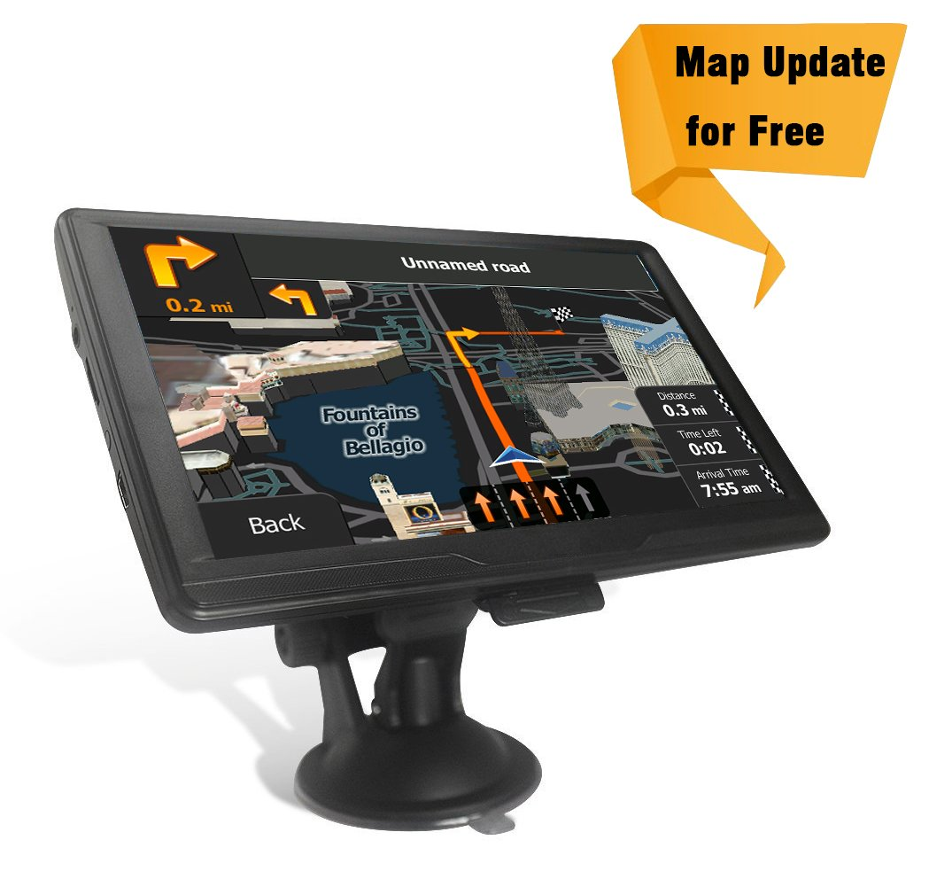 Navigation Systems Car 7 inch 8 GB Touch Screen GPS Navigation Car USB Cable 2 Car Chargers Mount, Lifetime Map Update