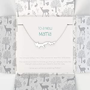 New Mama Silver Necklace in Gift Packaging | Inspirational Words | New Mum Gifts | Keepsake for Mum to Be | Baby Shower Gifts for Mum