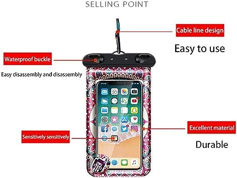 Vige Pochette /étanche pour t/él/éphone Portable Pochette /étanche pour t/él/éphone Portable Etui Fluorescent pour t/él/éphone Portable Luminous Rose Red