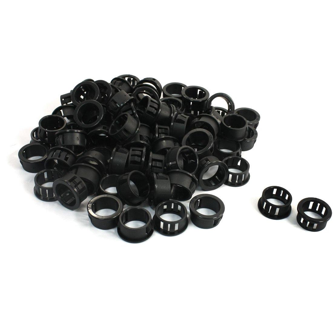 sourcingmap® casquillo de Pasacables Broche Redondo negro casquillo protector 19mm x 14, 3mm 100 piezas SYNCTEA007739