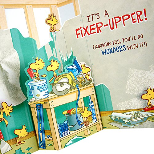 Hallmark Funny Father's Day Greeting Card (Peanuts Snoopy and Woodstock Fixer-Upper) Photo #6
