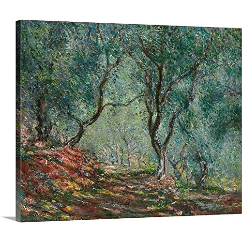 Thick-Wrap Canvas Wall Art Print Entitled Olive Trees in The Moreno Garden, 1884 30