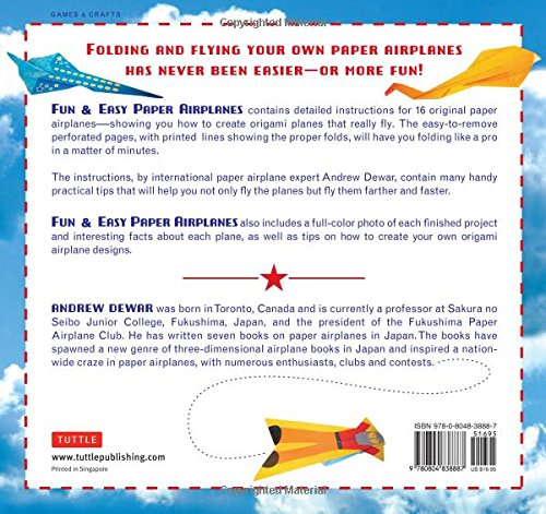 Fun Easy Paper Airplanes This Book Contains 16 Projects 84 Papers Instruction Great For Both Kids And Parents Andrew