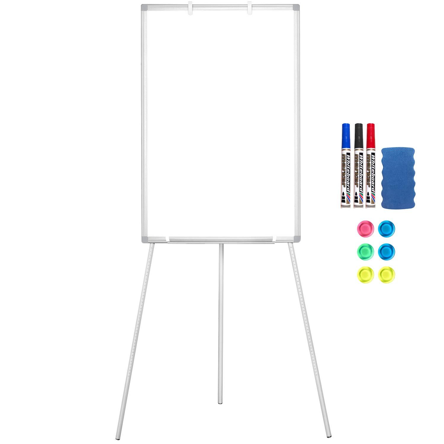 Easel Whiteboard Magnetic Dry Erase Board 90 x 60cm Stand Board Height Adjustable Tripod Whiteboard for Office Home /& Classroom