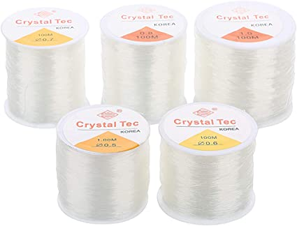 1.5mm Crystal Tec Transparent Stretch Clear Elastic String Beading Craft Cord N
