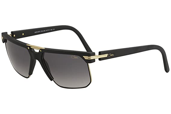 80d265a6b8 Image Unavailable. Image not available for. Color  Cazal Men s 9072 002  Matte Black Gold Fashion Square Sunglasses 61mm
