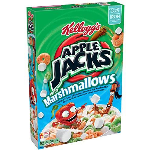 Apple Jacks Kellogg's, Breakfast Cereal with Marshmallows, Low Fat, 12.6 oz (Multigrain Cereal Bars)