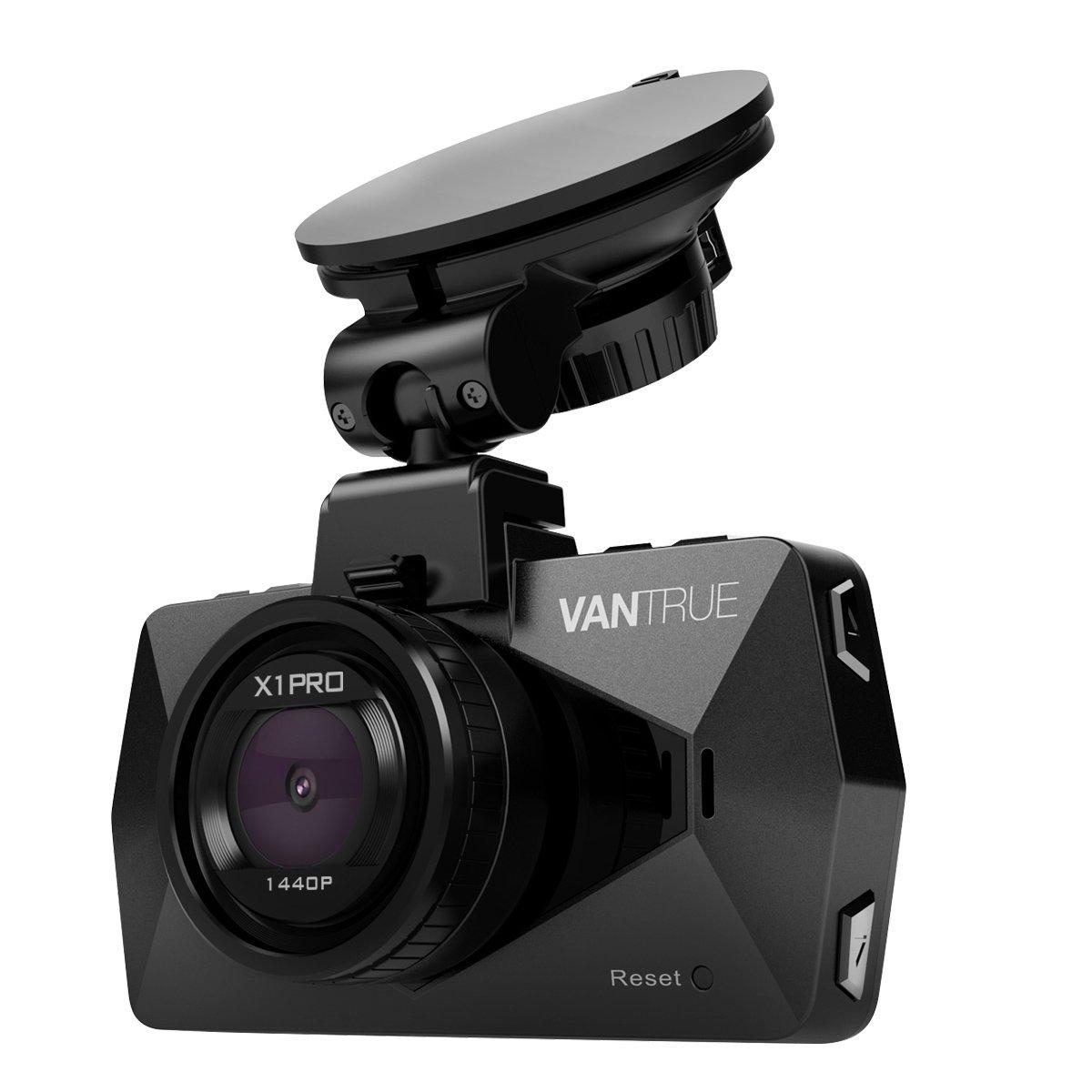 Vantrue X1 Pro 2.5K Dash Cam Super HD 1440P30 1080P60 Dashboard Camera Car Video Recorder w/ 170° Wide Angle, Parking Mode, Super Night Vision, Time lapse, 2.7'' LCD, Motion Detection