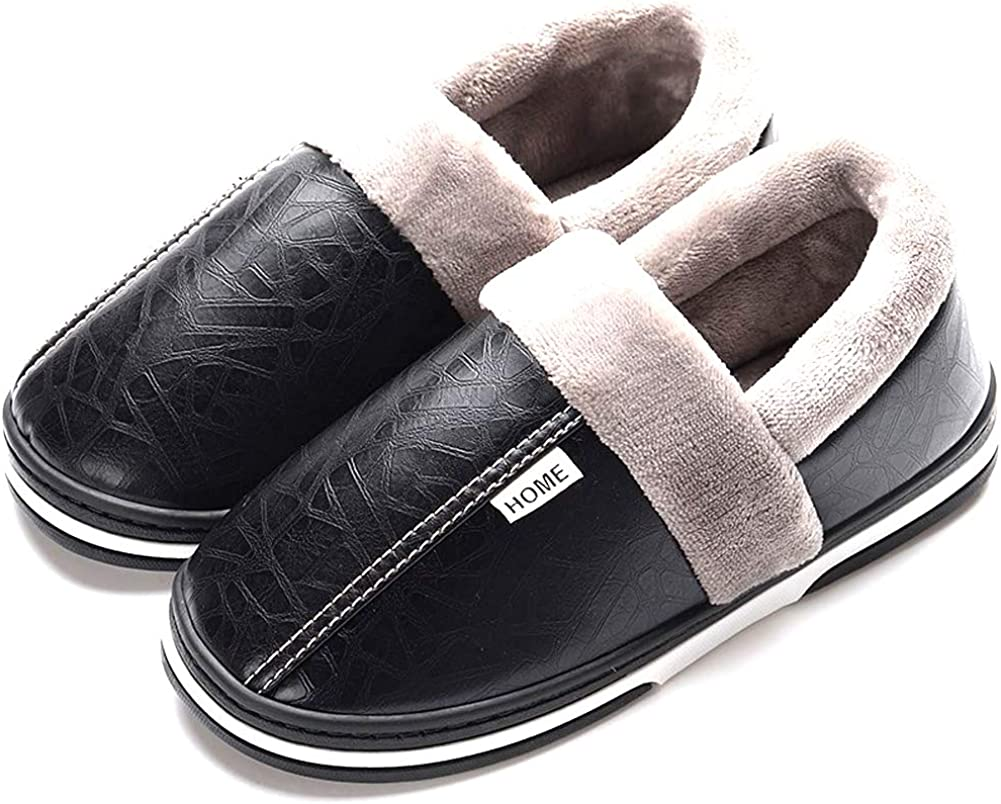 New Women/'s Men Slippers Anti-Skid Warm Plush Comfy Indoor Shoes Couple Winter