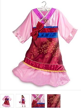 Tienda de Disney princesa Mulan Kimono disfraz vestido niñas Rosa ...
