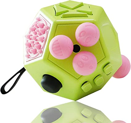 New Adult Kids Cube 12 Sides Anti-Stress Anxiety Relief Focus Puzzle Gifts Toys