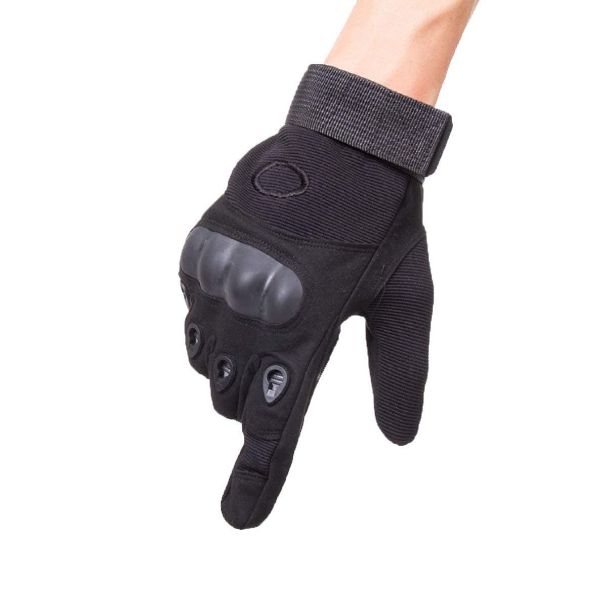 CWJ All Refers to The Ultra-Fiber Outdoor Sports Climbing Riding Gloves Men,Black,X-Large