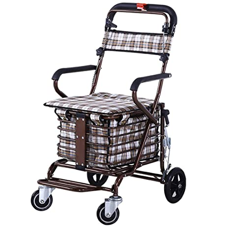 DWW Carro de la Compra Multifuncional para discapacitados ...