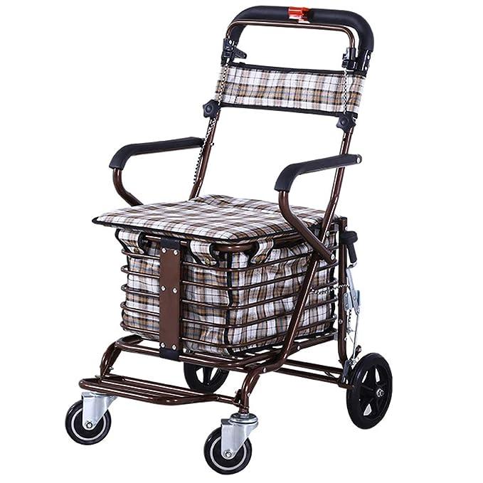 Amazon.com: Carro de la compra multifuncional Handicap ...
