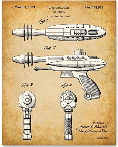 Toy Ray Gun Retro Art - 11x14 Unframed Patent Print - Great Gift for Sci Fans or Boy's Room Decor