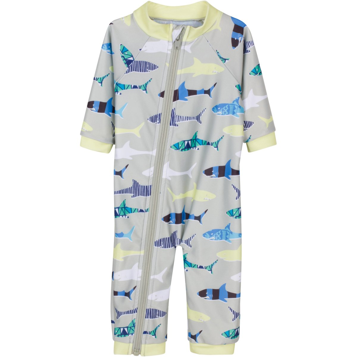 d105546e55 Galleon - SwimZip¨ Little Boy Long Sleeve Sunsuit With UPF 50 Sun  Protection Gray 6-12 Month