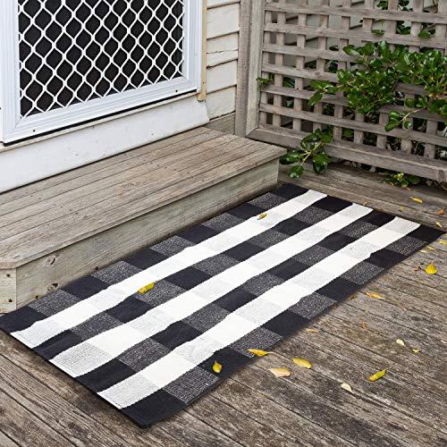 """JTL Floorings Washable Cotton Buffalo Plaid Rug 27.5"""" x 45"""""""