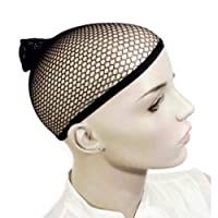 Practical Wig Mesh Net Chic Hair Open End Portable Wig Accessories Elastic Wig Cap BlackWig woven mesh black