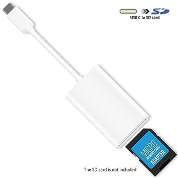 USB C Lector de Tarjetas SD, HUIRID USB Tipo C a Tarjeta SD ...