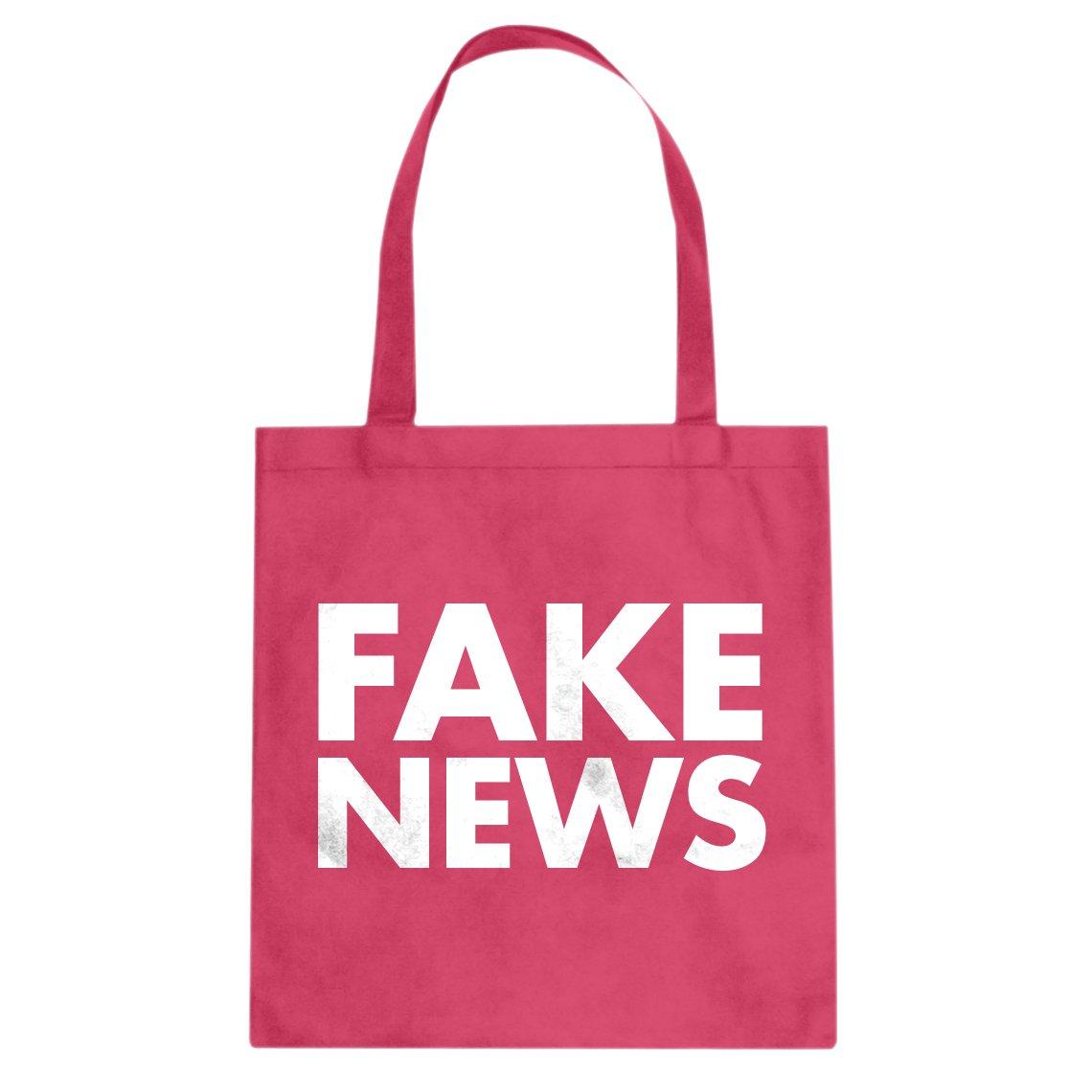 Indica Plateau FAKE NEWS Cotton Canvas Tote Bag