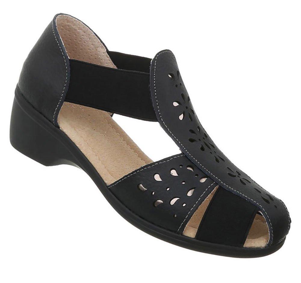 Damen Schuhe Sandalen Leder Pumps40 EU|Modell Nr1schwarz