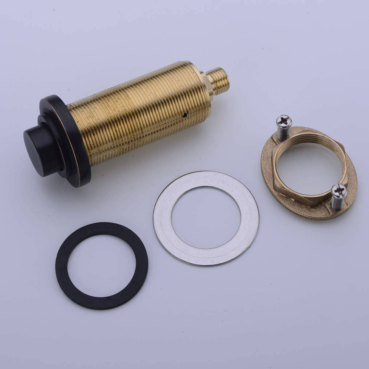 SINKINGDOM SinkTop Air Switch Kit (Full Brass) for Disposal, Dual Outlet, (Oil Rubbed Bronze) by SINKINGDOM (Image #4)