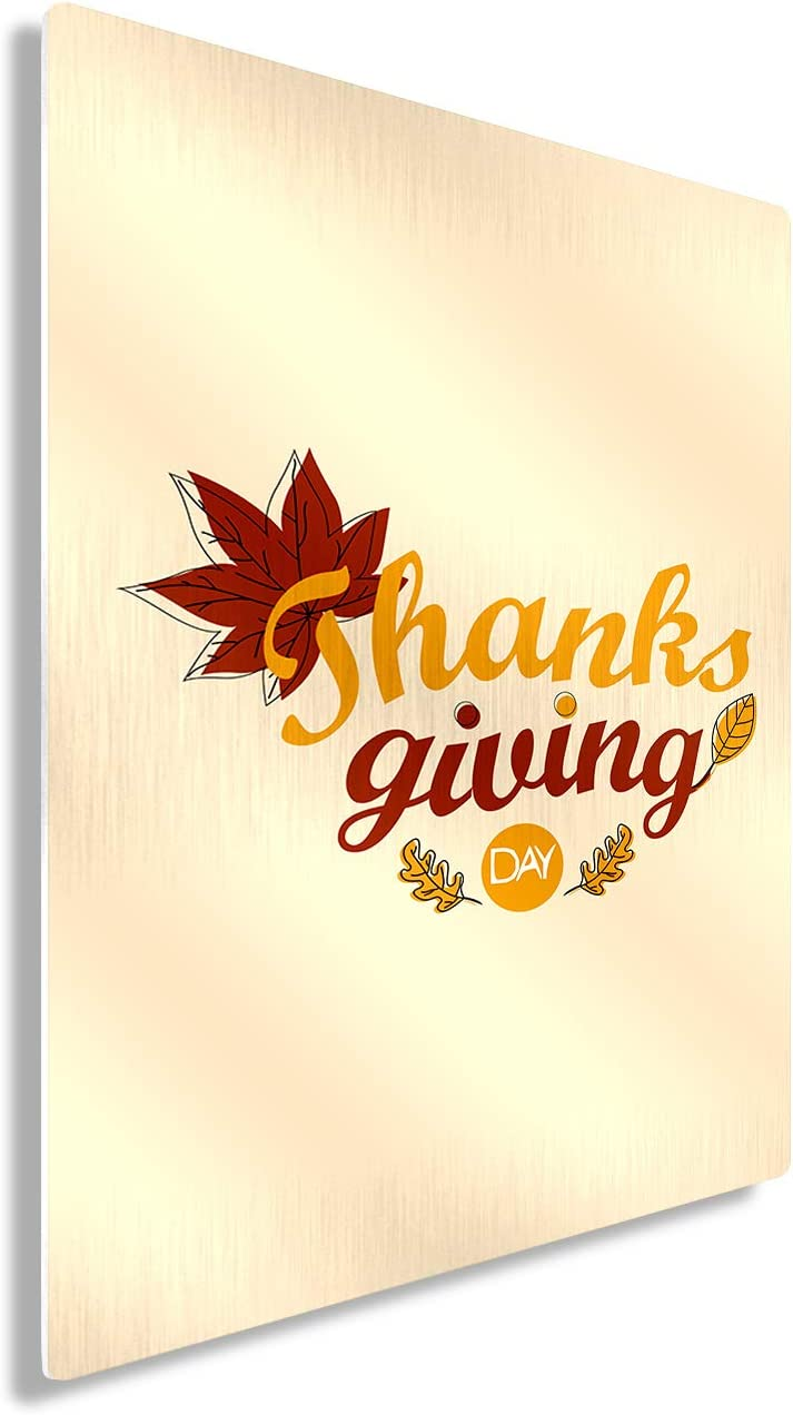 "Awkward Styles Thanksgiving Gifts Metal Print Wall Art Maple Leaf Home Decor 30"" x 40"""