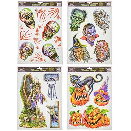 Scary Halloween Window Clings 4 Sheets - Scream