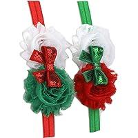 2pcs Haarbänder Weihnachten Haarband Süße für Mädchen Kleinkind Kids