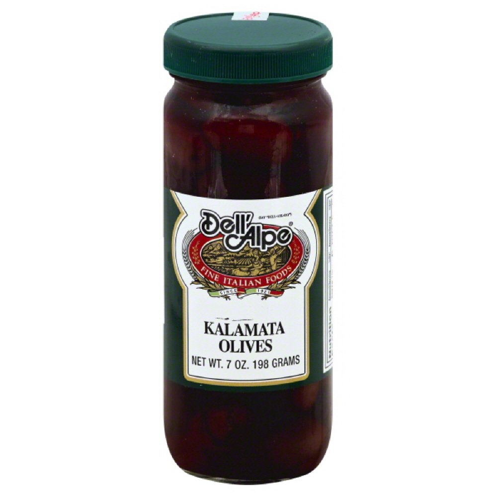 Dell' Alpe Kalamata Olives, 7-Ounce (Pack of 12)