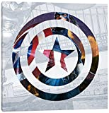 iCanvasART MRV1126-1PC3-12x12 Icanvas Captain's America Shield II, 12'' x 12''