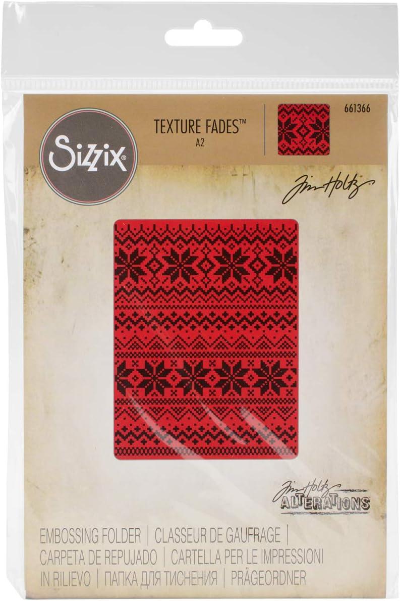Sizzix Tim Holtz Alterations Texture Fades Embossing Folder Pinwheel 661202 2016
