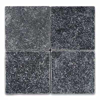"Taurus Black Marble 6"" X 6"" Tumbled Field Tile - Box of 5 sq. ft."