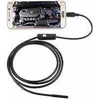 Câmera Endoscópio 5 Metros 6 Leds 7mm Usb Prova D Água Sonda v8 usb pc celular