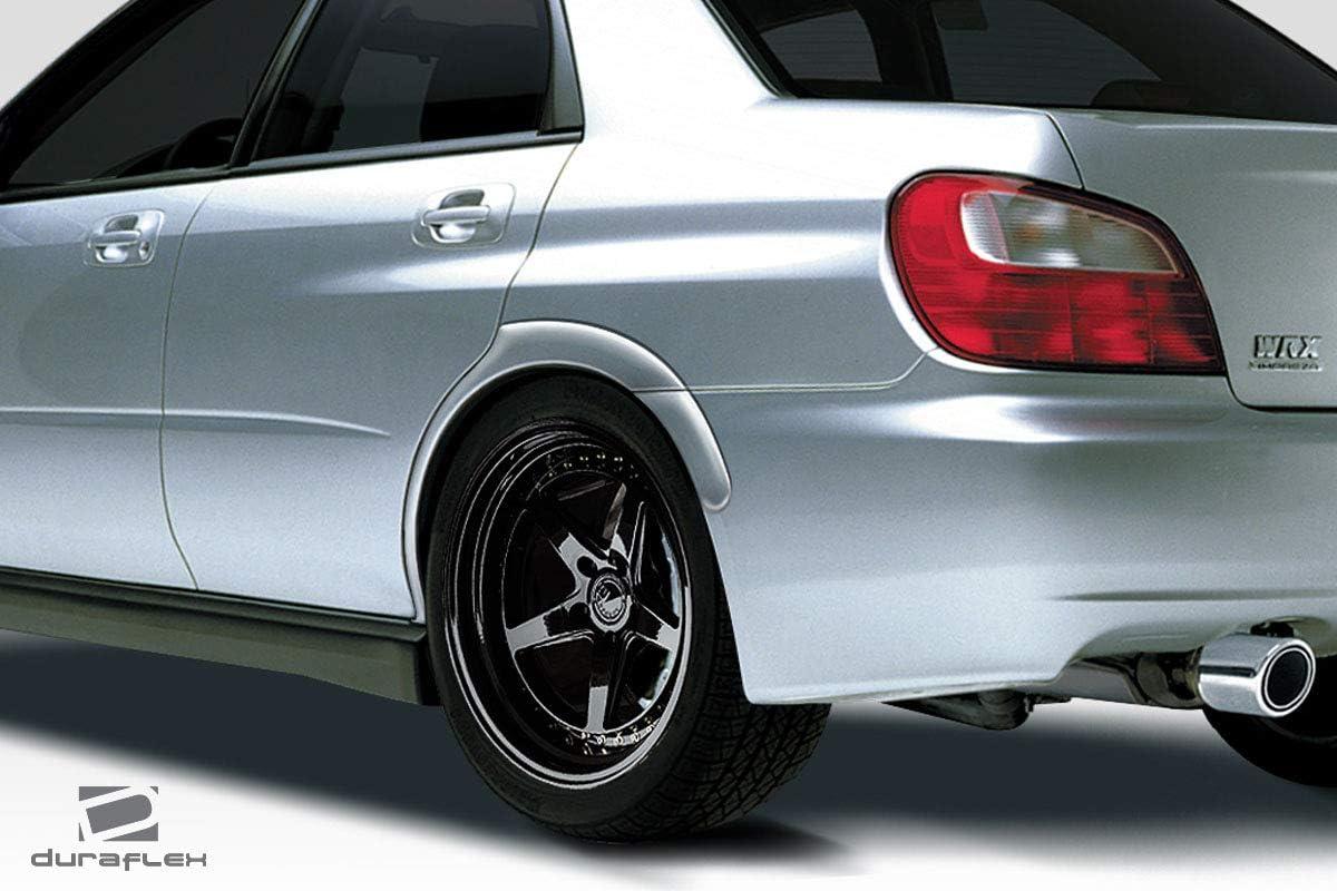 MCARCAR KIT Wide Wheel Arch fits Subaru Impreza WRX STI 2002-2007 Customized Rear Side Flare Apron Moldings Fender Trims