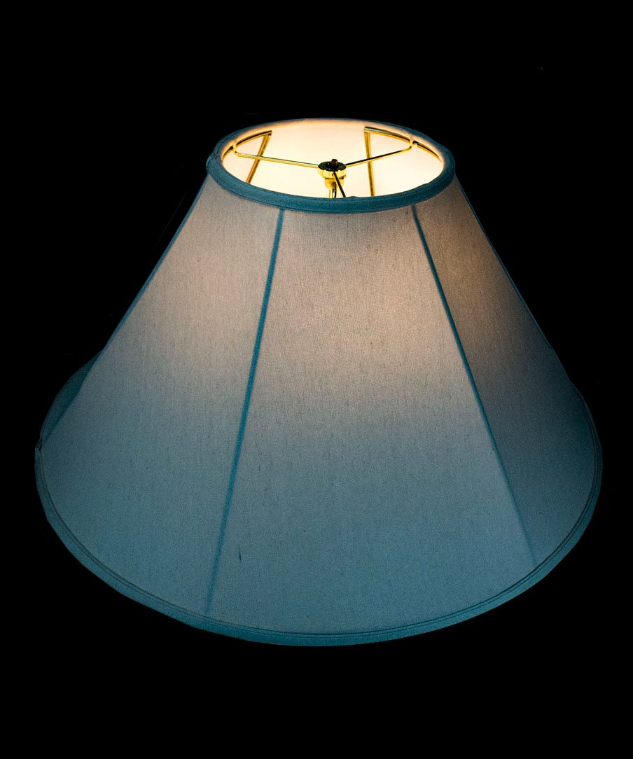 8x22x14 Coolie Lamp Shade Premium Light Oatmeal Linen with Brass Spider fitter by Home Concept - Perfect for table and floor lamps - Large, Off-white by HomeConcept (Image #6)