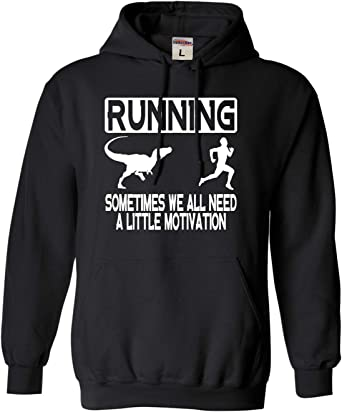 Running Some Motivation Required Running Hoodie Hoody Funny Novelty hooded Top