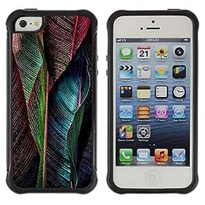 Suave TPU Caso Carcasa de Caucho Funda para Apple Iphone 5 / 5S / Feather Vibrant Teal Green / STRONG