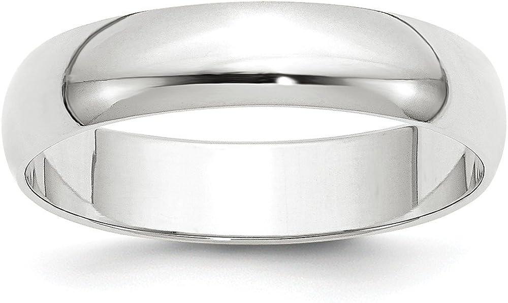 10KW 5mm LTW Half Round Band Size 10.5 Size 10.5 Length Width 5